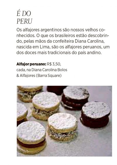 Diana Carolina Bolos & Alfajores - Clipping